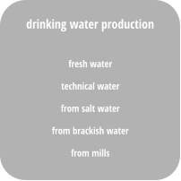 fresh water technical water from salt water from brackish water from mills drinking water production